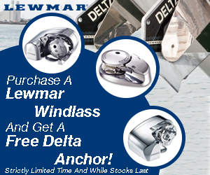 New Year, New Boat Gear? Get a FREE Delta Anchor with LEWMAR Windlass!